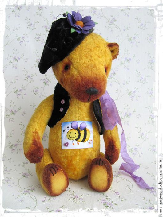 Мишки Тедди ручной работы. Ярмарка Мастеров - ручная работа. Купить Жужа из Лавандового королевства - коллекционный плюшевый мишка. Handmade.