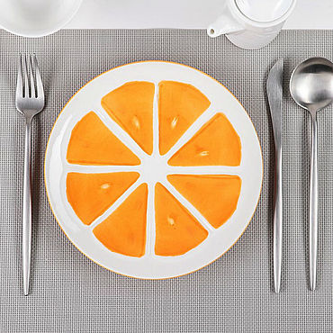 """Посуда ручной работы. Ярмарка Мастеров - ручная работа Тарелка """"Апельсин"""". Handmade."""