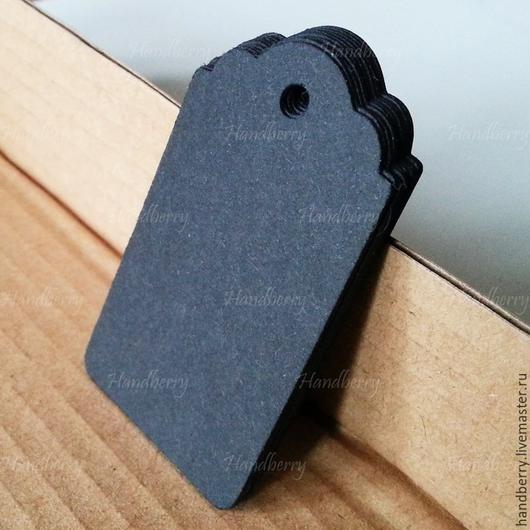 Упаковка ручной работы. Ярмарка Мастеров - ручная работа. Купить Бирки черные Тег 4х7 см. Handmade. Черный, бирка