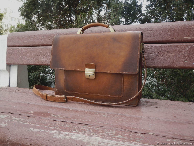 2e10c787c507 Мужские сумки ручной работы. Ярмарка Мастеров - ручная работа. Купить  Мужской кожаный портфель.
