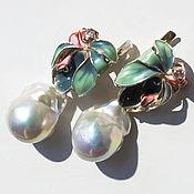 "Украшения handmade. Livemaster - original item Baroque pearl earrings with silver ""Tendeness"". Handmade."