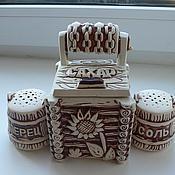 Посуда ручной работы. Ярмарка Мастеров - ручная работа набор соль -перец. Handmade.