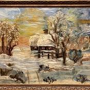 """Картины и панно ручной работы. Ярмарка Мастеров - ручная работа Картина """"Морозное утро"""". Handmade."""