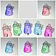 Бутылочки-пуговицы декоративные  Размер - 2,5 х 3,7 см 1 - оранжевая 2 - зеленая 3 - фиолетовая 4 - голубая 5 - ярко-розовая  Цена: 1 шт. - 8 р.