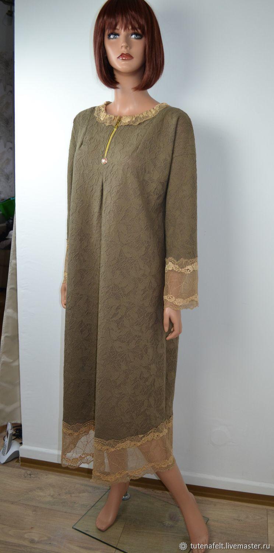ebfcbf01cf0 ... Платья ручной работы. Нарядное бежевое платье из итальянского трикотажа   J aime bien  ...