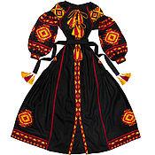 """Одежда ручной работы. Ярмарка Мастеров - ручная работа Длинное платье с клиньями """"Лесная Песня"""". Handmade."""