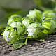 """Для украшений ручной работы. Ярмарка Мастеров - ручная работа. Купить Круглые бусины-бутоны """"Оливковые"""". Handmade. Зеленый"""