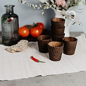 Посуда handmade. Livemaster - original item Set of Wooden wine glasses (6#16. Handmade.