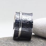 Украшения ручной работы. Ярмарка Мастеров - ручная работа Кольцо из серебра с подвижным элементом размер 19. Handmade.