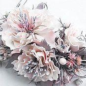 Украшения ручной работы. Ярмарка Мастеров - ручная работа Брошь-заколка Розовая дымка. Handmade.
