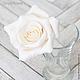 Заколки ручной работы. Комплект свадебных шпилек с розами - Белые (3 шт). Tanya Flower. Ярмарка Мастеров. Цветы в прическу