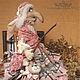 """Коллекционные куклы ручной работы. Ярмарка Мастеров - ручная работа. Купить Авторская кукла """"Баба-Яга"""". Handmade. Розовый"""