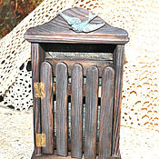 """Для дома и интерьера ручной работы. Ярмарка Мастеров - ручная работа Ключница """" У старой стены """". Handmade."""