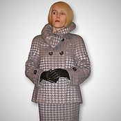 Одежда handmade. Livemaster - original item Exquisite designer suit pearl gray. Handmade.