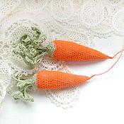 """Украшения ручной работы. Ярмарка Мастеров - ручная работа Брошь """"Фру Морковь"""". Handmade."""