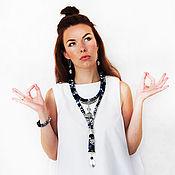 """Украшения ручной работы. Ярмарка Мастеров - ручная работа Текстильные украшения """"Ом"""" (комплект). Handmade."""