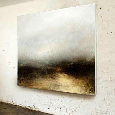 """Картины и панно ручной работы. Ярмарка Мастеров - ручная работа Картина на стену """"Туманная равнина"""". Handmade."""