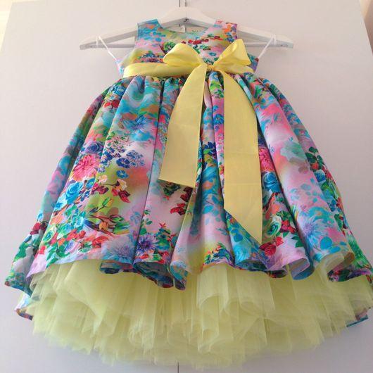 """Одежда для девочек, ручной работы. Ярмарка Мастеров - ручная работа. Купить Familylook """"Яркий лимончик """". Handmade. Платье, familylook"""