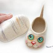 """Работы для детей, ручной работы. Ярмарка Мастеров - ручная работа Войлочные пинетки """"Котята"""". Handmade."""