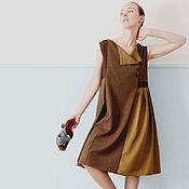 Одежда ручной работы. Ярмарка Мастеров - ручная работа Платье светло-оливковое. Handmade.