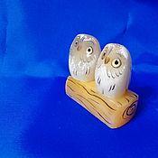 Для дома и интерьера handmade. Livemaster - original item Owls-a couple of natural Ural ornamental stone Selenite. Handmade.