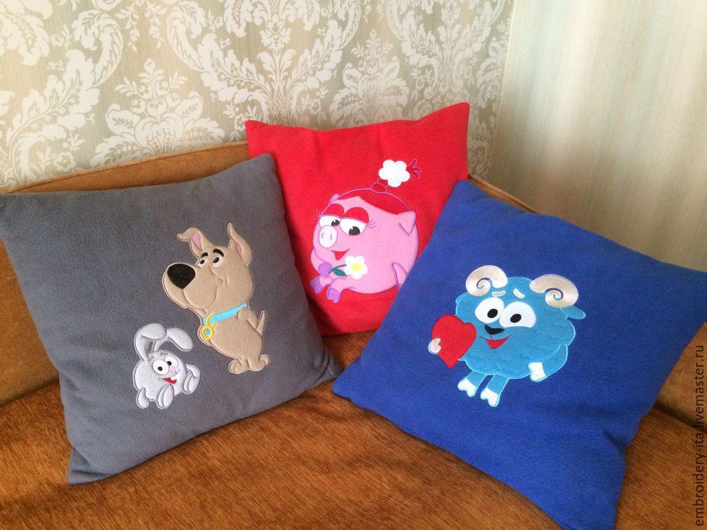Как сшить детскую подушку с аппликацией 40