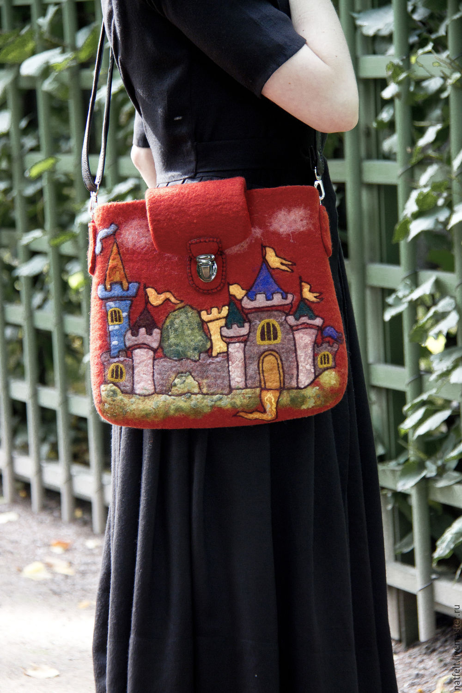 "Валяная сумка ""Рыцарский замок"", Классическая сумка, Санкт-Петербург,  Фото №1"