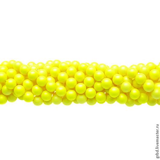 Для украшений ручной работы. Ярмарка Мастеров - ручная работа. Купить Жемчуг Сваровски 6 мм 5810 Neon yellow (06-734). Handmade.