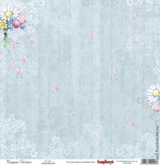 Открытки и скрапбукинг ручной работы. Ярмарка Мастеров - ручная работа. Купить Бумага для скрапбукинга Летняя Радость полевые цветы. Handmade.