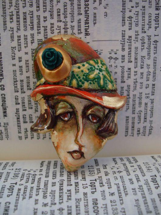 """Броши ручной работы. Ярмарка Мастеров - ручная работа. Купить Брошь в стиле арт-деко """"Клотильда в шляпке """"клош"""", авторское украшение. Handmade."""