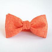Аксессуары ручной работы. Ярмарка Мастеров - ручная работа Галстук-бабочка оранжевый. Handmade.