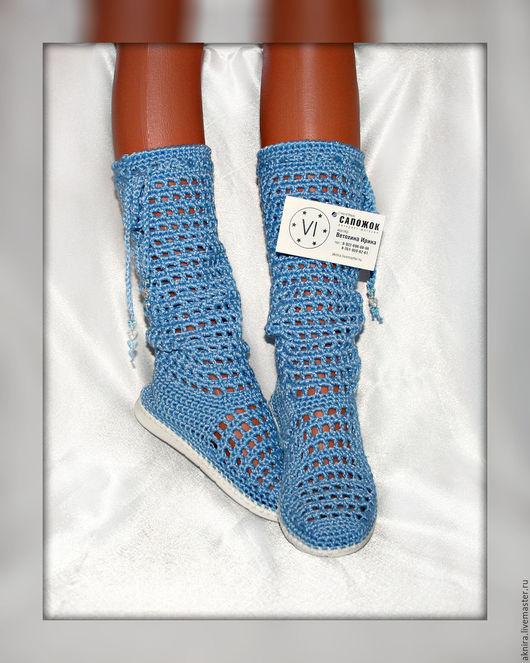 Обувь ручной работы. Ярмарка Мастеров - ручная работа. Купить Сапоги для девочки... Сапоги вязанные крючком... Сапоги летние. Handmade.