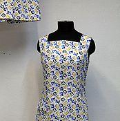 """Одежда ручной работы. Ярмарка Мастеров - ручная работа Ретро платье + шорты """"Ретро лето"""" алфавит. Handmade."""