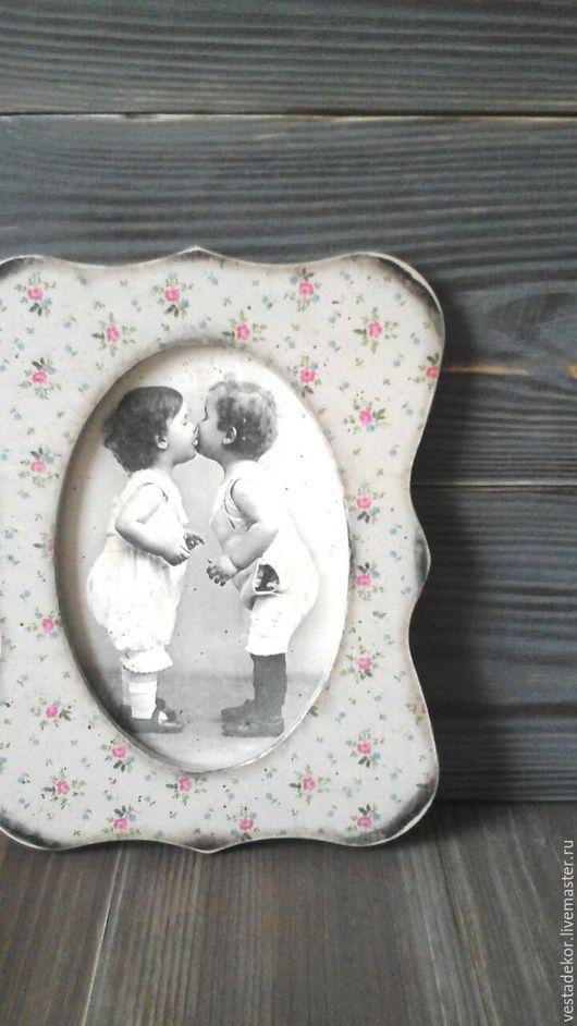 Люди, ручной работы. Ярмарка Мастеров - ручная работа. Купить Панно Поцелуй в винтажном стиле с ретро сюжетом. Handmade. потертый