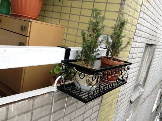 Подставки под цветы ручной работы. Ярмарка Мастеров - ручная работа. Купить Балконная полка - ящик для цветов. Handmade.