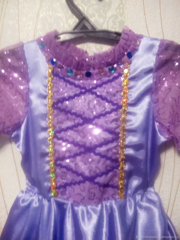 Нарядное платье принцессы Рапунцель