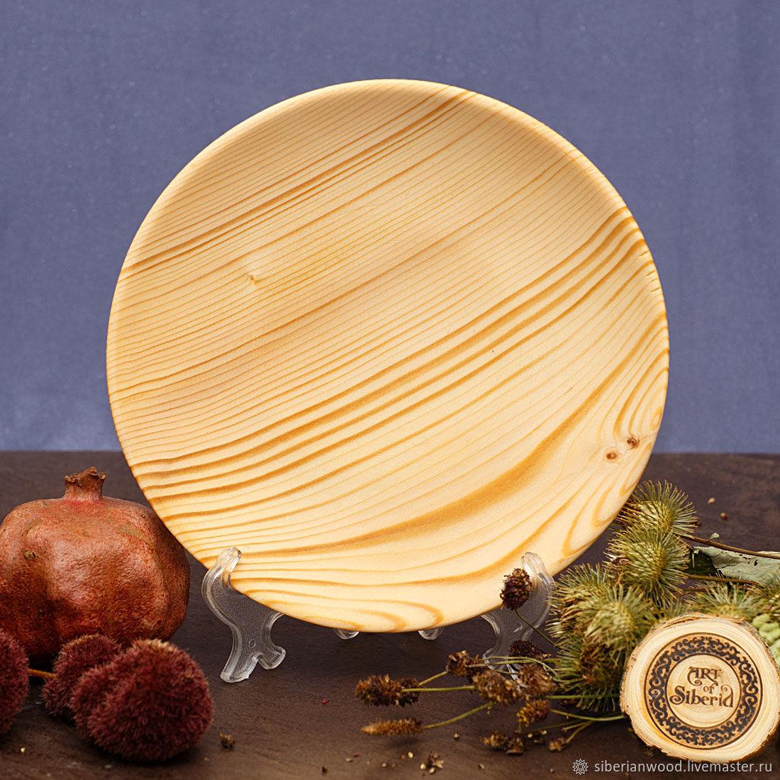 Wooden Plate 20.5 cm 100%#62, Plates, Novokuznetsk,  Фото №1