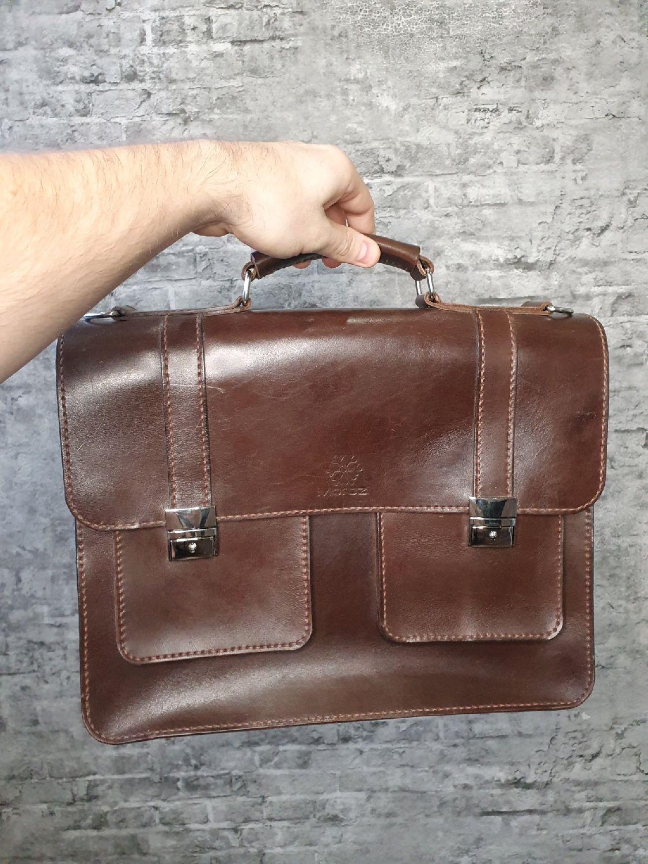Сумка из натуральной кожи ручной работы для делового человека, Мужская сумка, Краснодар,  Фото №1