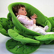 Куклы и игрушки handmade. Livemaster - original item The cradle chair for doll Cabbage. Handmade.