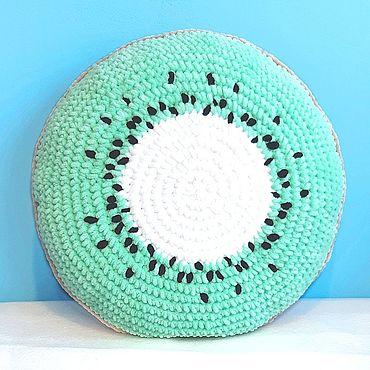 Для дома и интерьера handmade. Livemaster - original item Plush Kiwi pillow. Handmade.