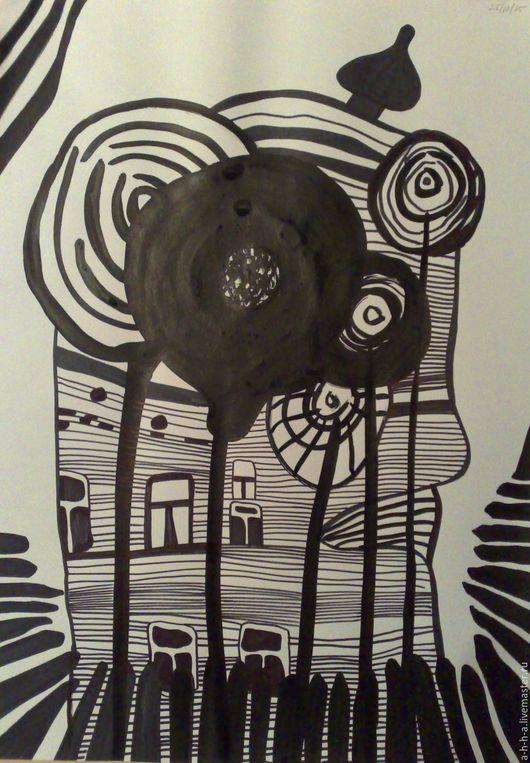 Абстракция ручной работы. Ярмарка Мастеров - ручная работа. Купить Абстрактная композиция 01-12-2015. Handmade. Картина для интерьера