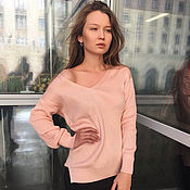 Одежда handmade. Livemaster - original item Sweater women`s powder (peach). Handmade.