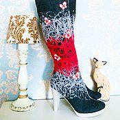 """Обувь ручной работы. Ярмарка Мастеров - ручная работа Сапоги  """"Бабочки"""". Handmade."""