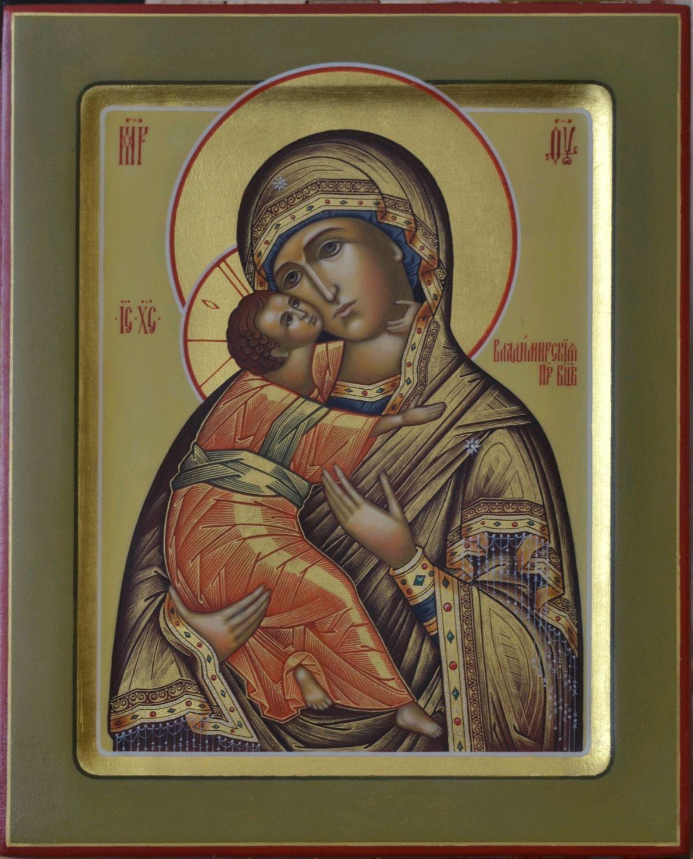 Владимирская икона Пресвятой Богородицы, Иконы, Палех,  Фото №1