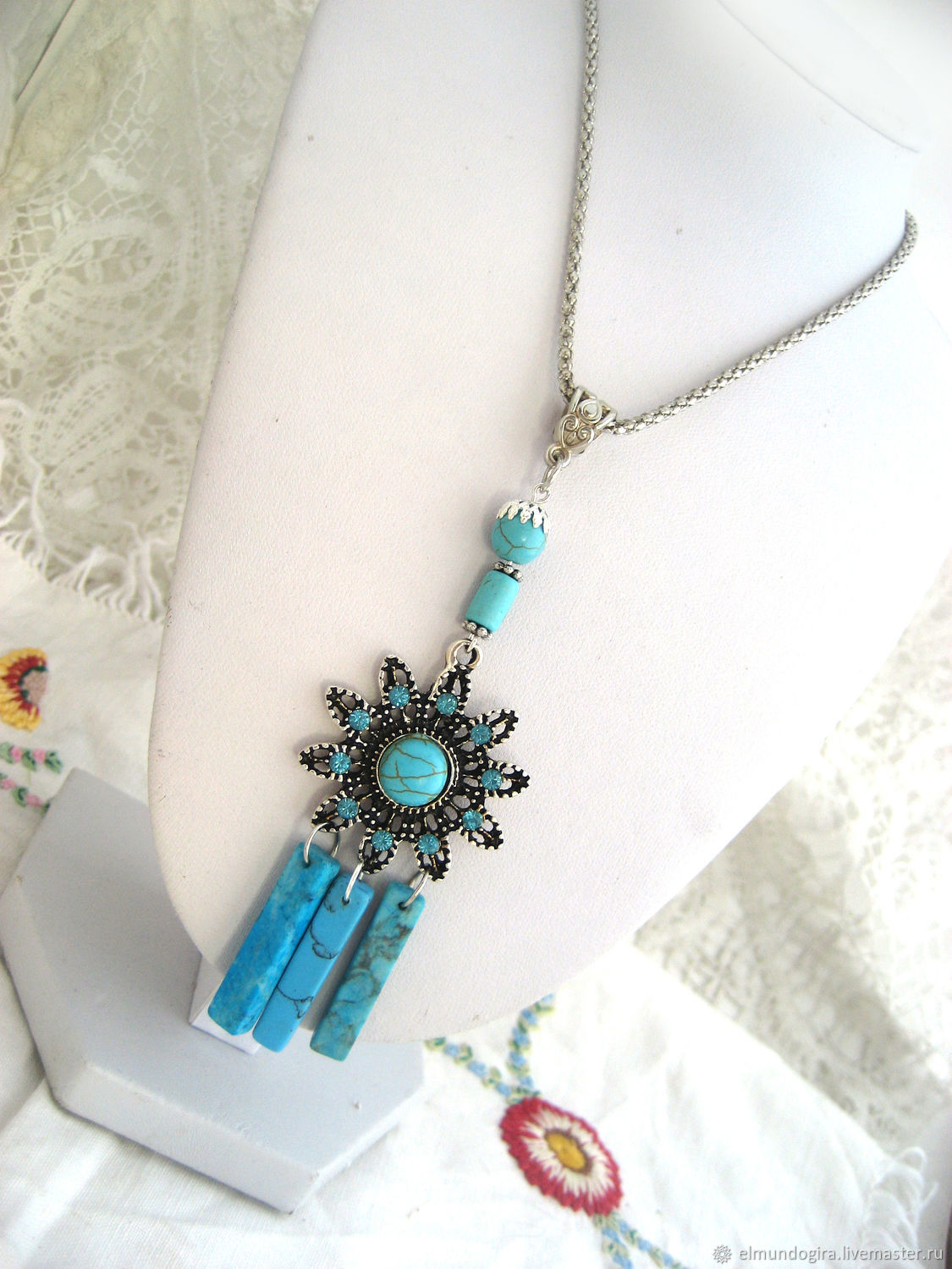 Pendant with turquoise ' Aurora Morning star', Pendant, Moscow,  Фото №1