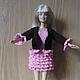 Одежда для кукол ручной работы. шоколадный комплект с розовыми оборками. Римма. Ярмарка Мастеров. Кукольные наряды