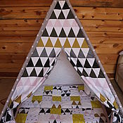 "Для дома и интерьера handmade. Livemaster - original item Wigwam for children ""The dream of a minimalist"". Handmade."