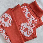 """Одежда ручной работы. Ярмарка Мастеров - ручная работа Вязаный свитер """"Фламинго"""" с разной длиной спинки и переда с орнаментом. Handmade."""
