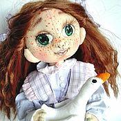 Куклы и игрушки ручной работы. Ярмарка Мастеров - ручная работа Текстильная кукла в сиреневых тонах.. Handmade.