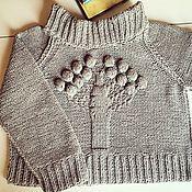 Одежда ручной работы. Ярмарка Мастеров - ручная работа Короткий женский свитер с деревом. Handmade.